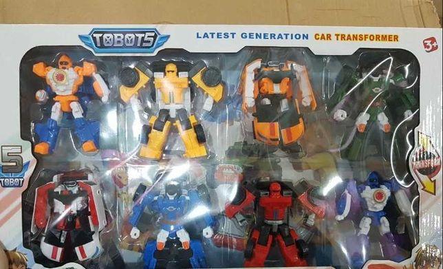 Набор Детский Tobot трансформеров 8 шт, Большой - Новый.