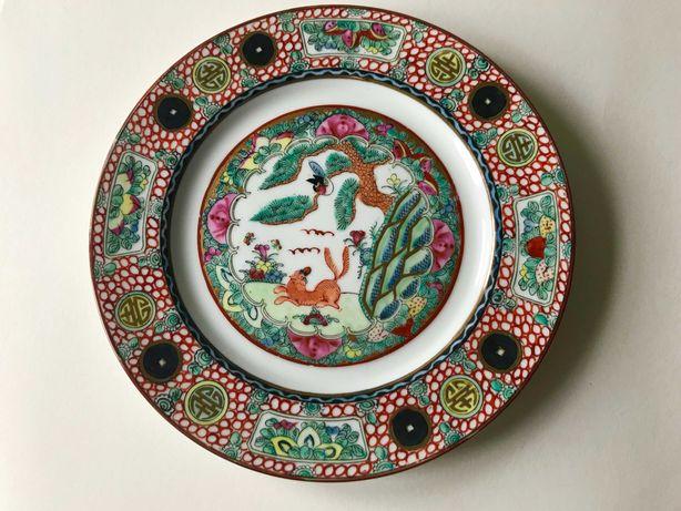 Prato de Porcelana Chinesa - Motivos Cão