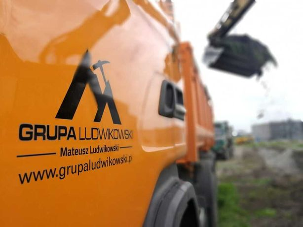 Utwardzenie Podbudowa dróg Budowa drogi Koparka Kruszywo Kamień