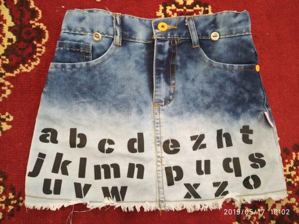Юбка юпка спідниця 7 лет років джинс дівчинка девочка