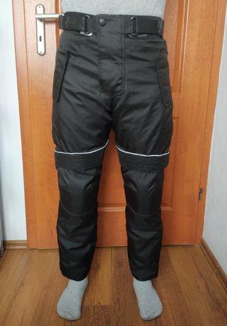 Tekstylne wodoodporne spodnie motocyklowe
