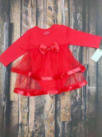 Sukienka body czerwone