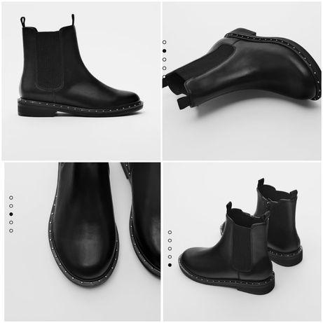 Оригинал! Zara 28 33 35 деми челси ботинки чорные Зара демисезонные