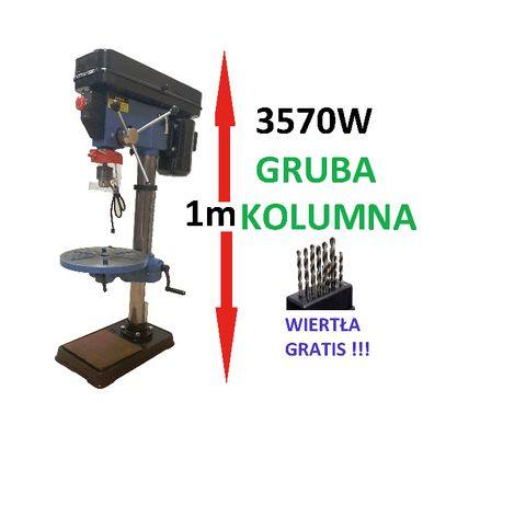 Wiertarka stołowa kolumnowa DUŻA 3570W + akcesoria GRUBA KOLUMNA
