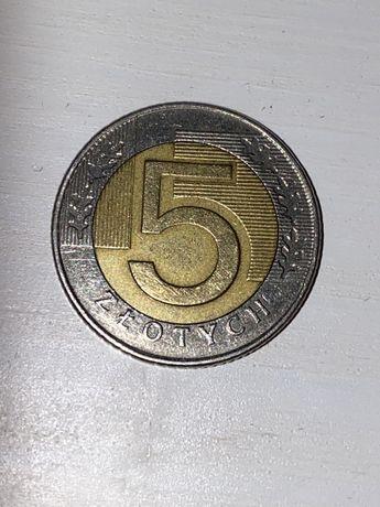 Moneta 5zł rok 1996