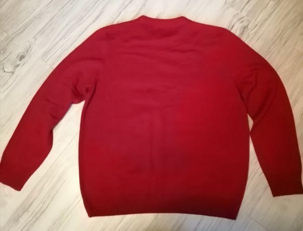 NOWY Sweter męski czerwony XXL XL