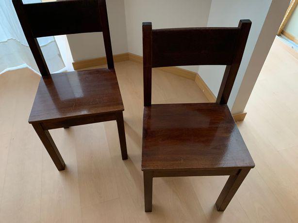 Cadeiras em Mogno - Baixa preço para desempatar