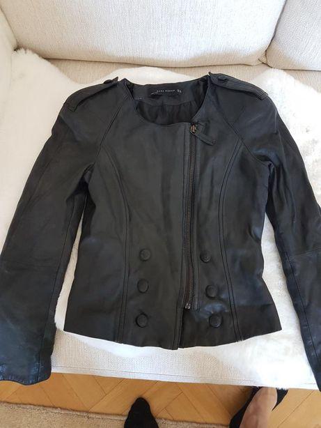kurtka skórzana 100% z efektownymi ramionami - zara