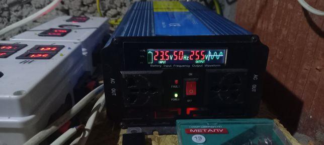 Інвертор,преобразователь 24/220в чистий синус.