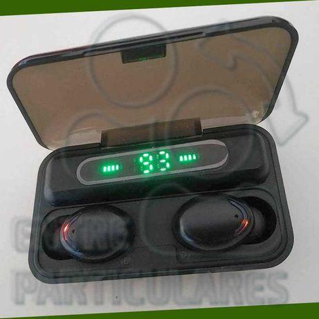 Fones TWS Bluetooth Estojo 2000mah PowerBank Auriculares P0030F