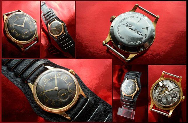 ЗОЛОЧЁННЫЕ мужские часы «КАМА» механика из СССР ВИНТАЖНЫЙ ГАДЖЕТ 50-х.