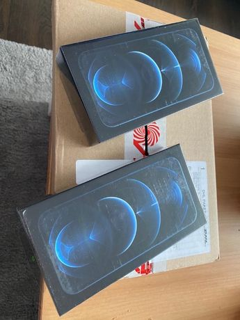Nowy Apple iphone 12 Pro 128GB Pacific Blue z Media Markt niebieski