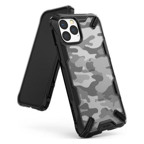 Capa Silicone Traseira Ringke Fusion X Design Durable Pc Case Bumper Iphone 11 Pro Max Camo Preto (Xdap0004)