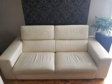 Sprzedam kanapę skórzaną z fotelem