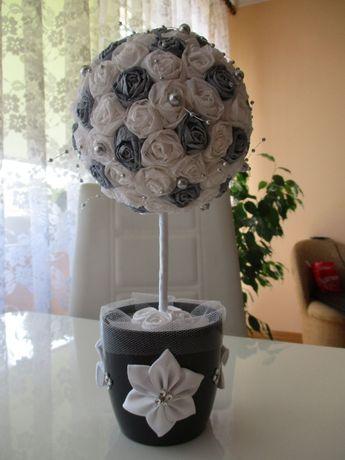 Srebrne drzewko na prezent, podziękowania dla gości rodziców