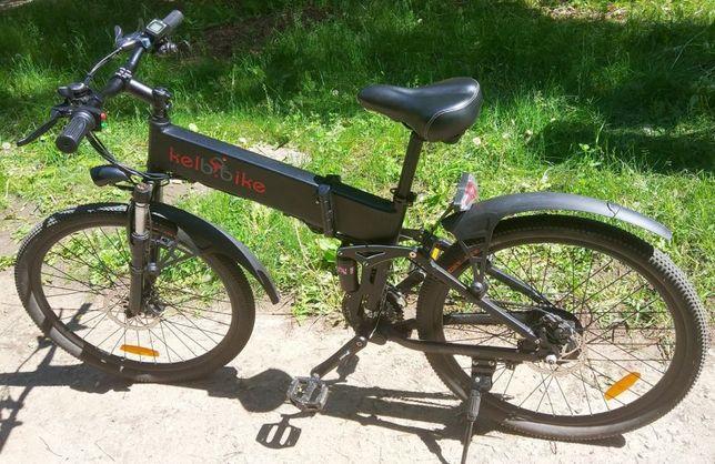 Электровелосипед складной двухподвес 350 ват, 48в, 10 ач