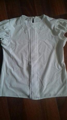 Красивая белая блуза в школу Турция