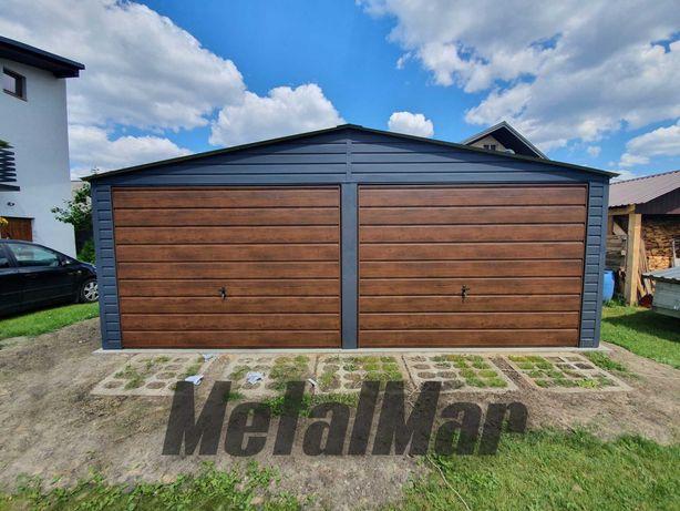 Garaż 6,3x5,5 do 35m2 na zgłoszenie drewnopodobny grafit producent