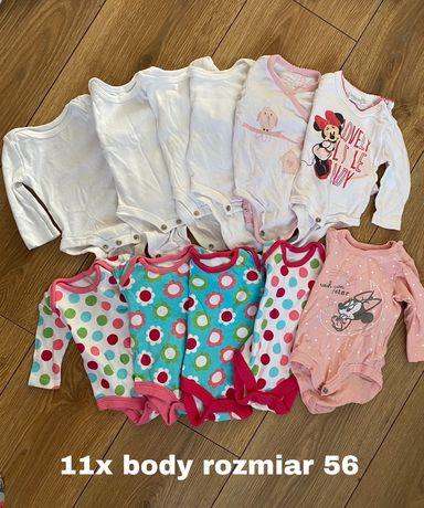 Ubranka dla dziewczynki rozmiar 56 wyprawka