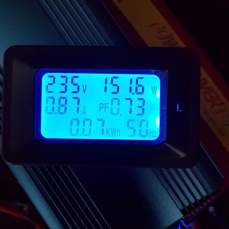 6-em-1 multímetro Digital voltímetro amperimetro mede wats wert