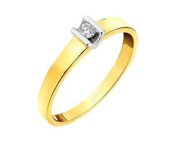 Apart pierścionek Diament Certyfikat Nowy rozmiar 13