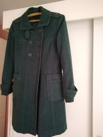 Sprzedam płaszcz jesienny w kolorze zielonym firmy next