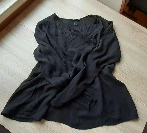 Bluzka czarna z wiskozy firmy H&M mama