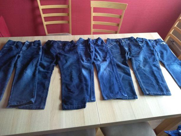 9 par chłopięcych spodni na 116