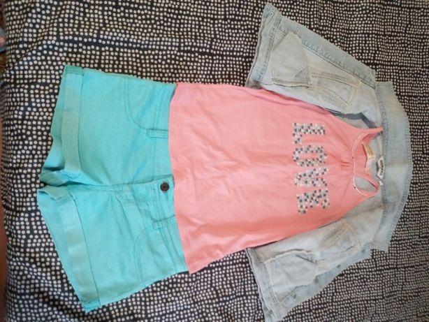 Продам шорты, футболку, жилетку для девочки
