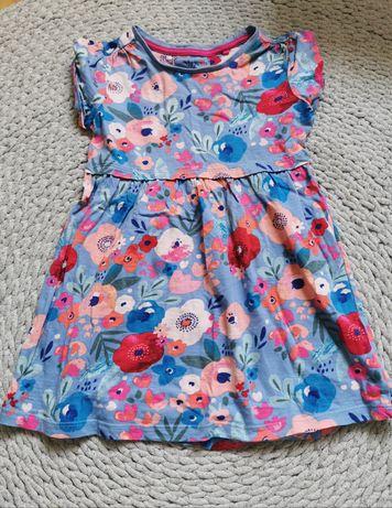 Sukienka kwiaty 98