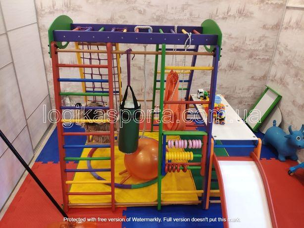 Горка, детская площадка, спортивный комплекс игровой, качели, мат