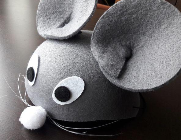 Czapka karnawałowa przebranie myszka dla dziecka 2-3 lata