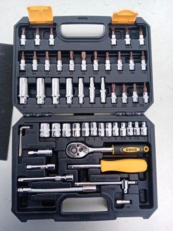 Caixa ferramentas - chaves de caixa - roquete 53 Peças - NOVO
