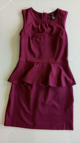 Sukienka bordowa s-36