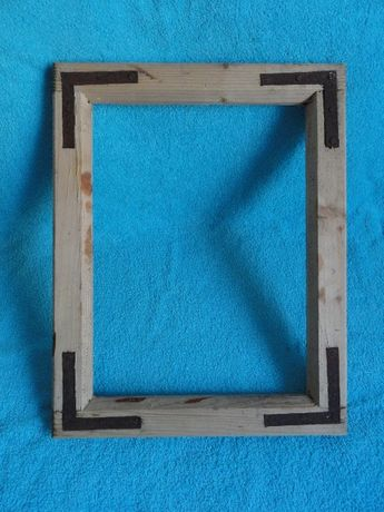 PRL rama ramka drewniana vintage
