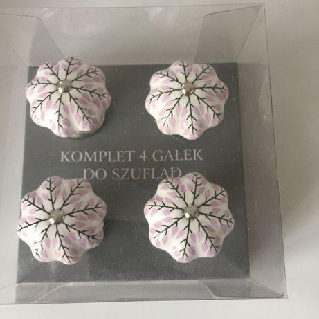 Komplet piękne ceramiczne gałki do drzwi szuflad komód szaf