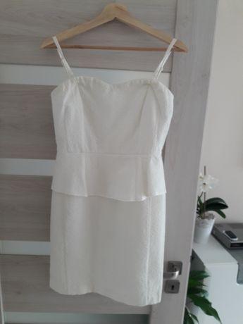 Sukienka r.36 kremowa