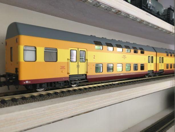 Wagony piętrowe Rivarossi PKP H0 nie Piko Roco