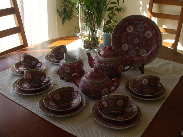 Serviço de Chá em porcelana - Edição limitada da Embaixada da China