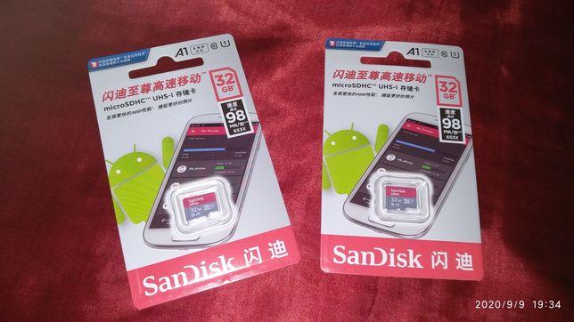 Карта пам'яті на 32Gb SanDisk Ultra A1 Micro SD Class 10