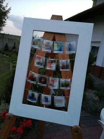 Ramka na zdjęcia na wesele, dekoracja weselna
