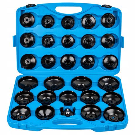 Klucze nasadowe do filtrów oleju nasadki zestaw 30 sztuk (WAR521)