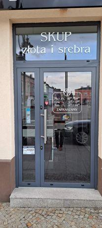 Drzwi zewnętrzne szklane