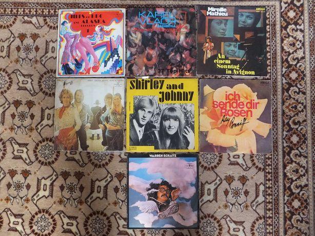 Płyty winylowe zagraniczne różne 7 sztuk ABBA Shirley & Johnny BBC...