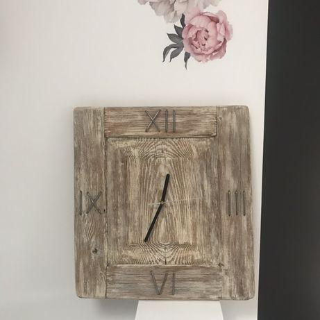 Zegar ścienny drewniany ręczna robota , handmade