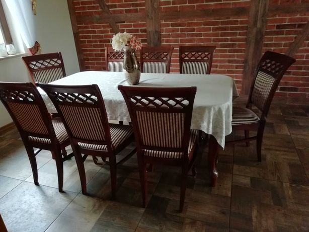 Ekskluzywny Komplet 8 krzeseł plus stół