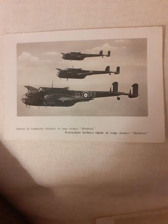 3 postais com aviões bombardeiros da 2a grande guerra