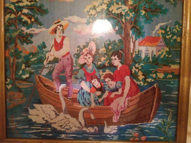 Картина вышитая крестиком ручная работа