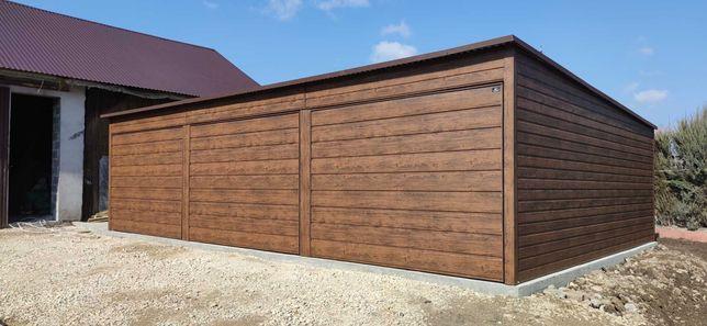 Blaszak 9x6 drewnopodobny garaż 9*5