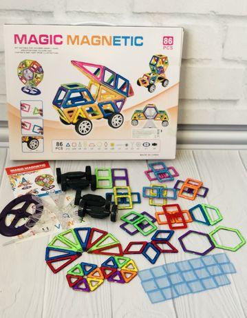 Большой набор Магнитный конструктор Magic Magnetic Mini 86 дет